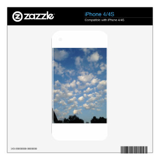 Blue Skies with while clouds Decal For iPhone 4S