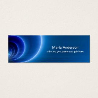 blue skinny business card