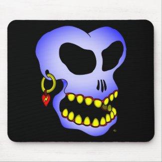 Blue skull-1 mousepad