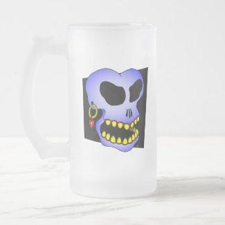 Blue skull-1 mug