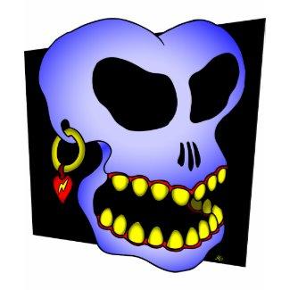 Blue skull-1 shirt