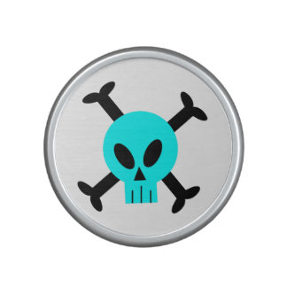 Blue Skull And Crossbones Bumpster Speakers