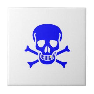 Blue Skull And Crossbones Ceramic Tiles
