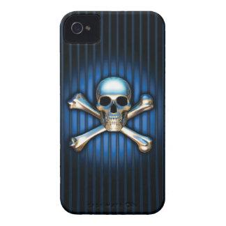 Blue Skull Black Berry Bold Case