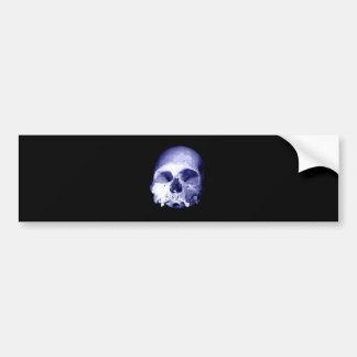 Blue Skull Bumper Sticker