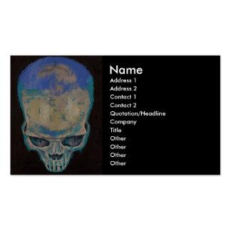 Blue Skull Business Card