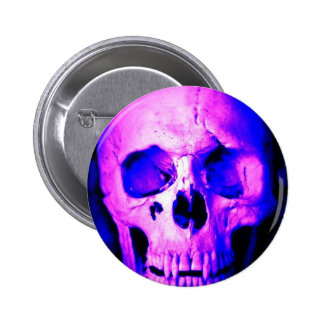 Blue Skull Pinback Button