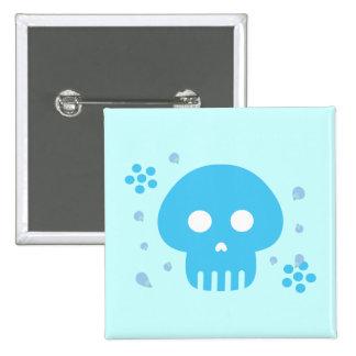 Blue Skull Button