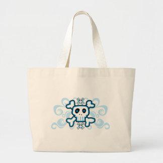 Blue Skull Cross Bones bag