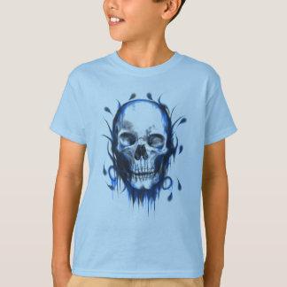 Blue Skull Design T-Shirt