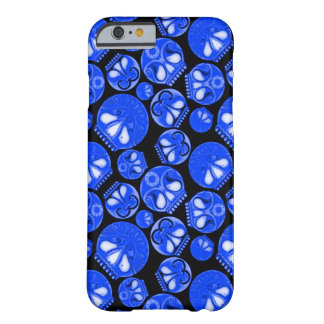 Blue Skull Diary Barely There iPhone 6 Case
