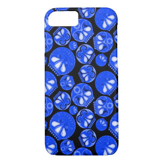 Blue Skull Diary iPhone 7 Case