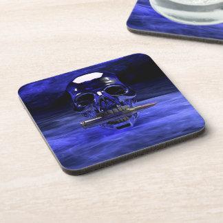Blue Skull Drink Coaster