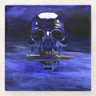 Blue Skull Glass Coaster