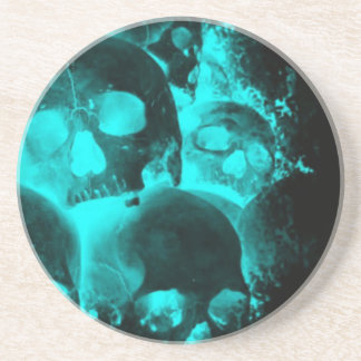 Blue Skull Glow Coaster