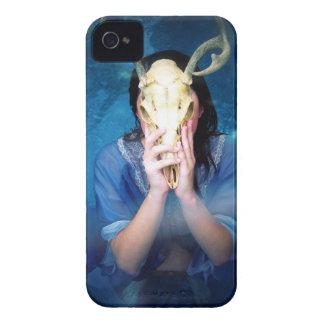 Blue Skull Goddess iPhone 4 Case