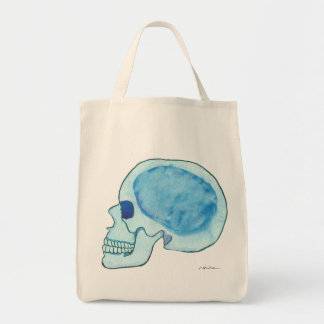 Blue Skull Grocery Tote