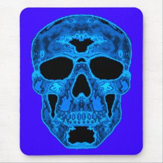 Blue Skull Horror Mask Mouse Pad