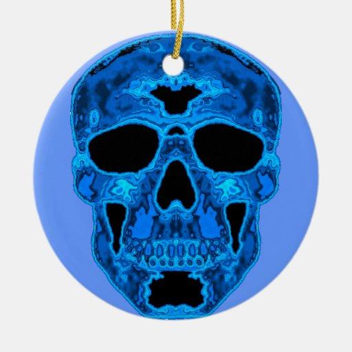 Blue Skull Horror Mask Ornaments