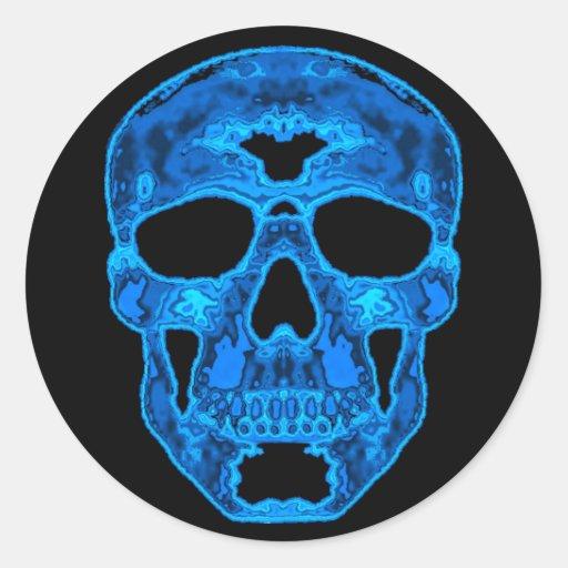 Blue Skull Horror Mask Stickers