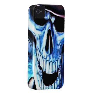 Blue Skull iPhone 4/4s Mate ID Case