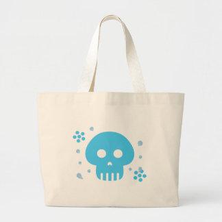 Blue Skull Large Tote Bag