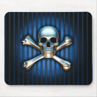 Blue Skull Mouse Pad