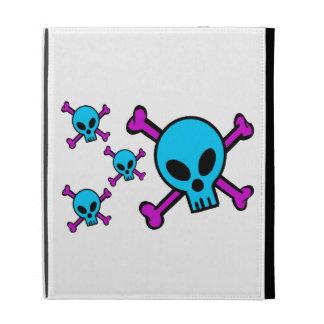 Blue Skull Pink Crossbones iPad Cases
