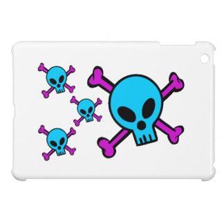 Blue Skull Pink Crossbones Cover For The iPad Mini