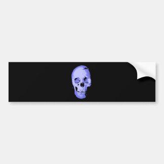 Blue Skull Pop Art Fantasy Bumper Stickers
