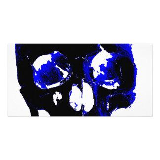 Blue Skull Pop Art Fantasy Card
