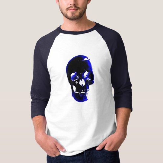 Blue Skull Pop Art Fantasy T-Shirt