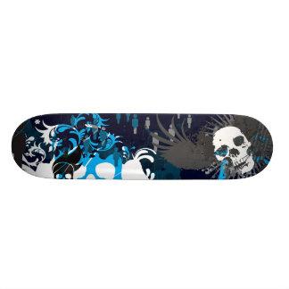 Blue Skull Skateboard Deck