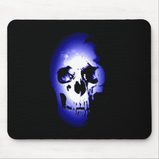 Blue Skull Skeleton Mouse Pad