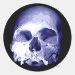 Blue Skull Stickers