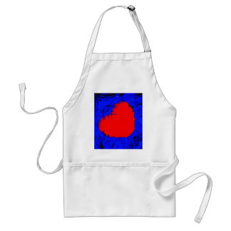 Blue Skull Strawberry Heart Adult Apron