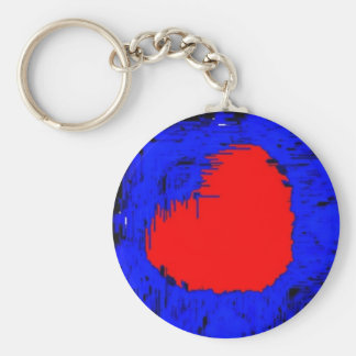 Blue Skull Strawberry Heart Keychain