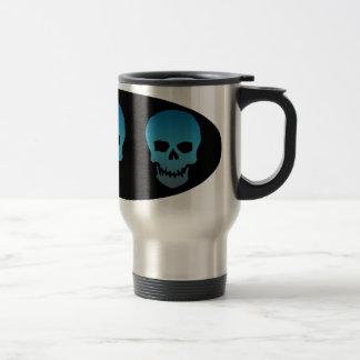 Blue Skull Travel Mug