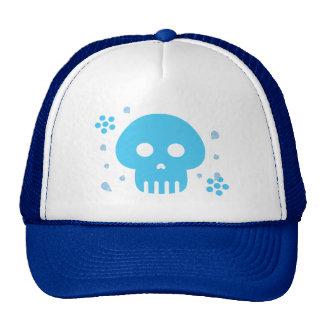 Blue Skull Trucker Hat
