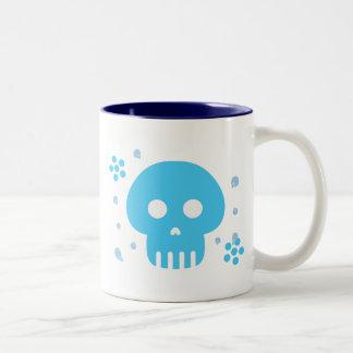 Blue Skull Two-Tone Coffee Mug