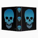 Blue Skull Vinyl Binders