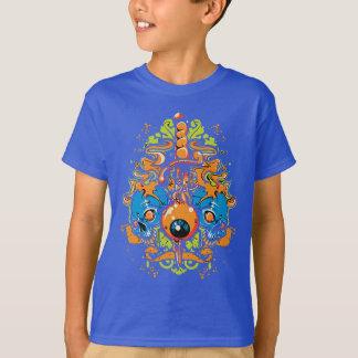 Blue Skulls And A Eyeball T-Shirt