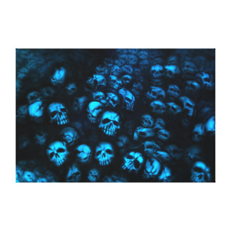 Blue Skulls canvas