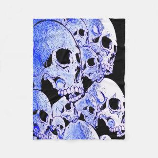 Blue Skulls Fleece Blanket