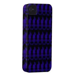 Blue Skulls iPhone 4/4s Mate ID Case