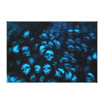 Blue Skulls lienzo Impresión En Lona