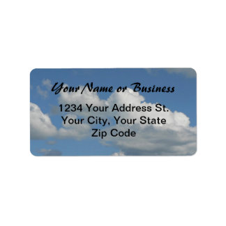 Blue Sky Address Label