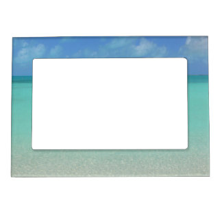 """""""BLUE SKY AND AQUAMARINE CARIBBEAN WATER"""" MAGNETIC MAGNETIC PHOTO FRAME"""
