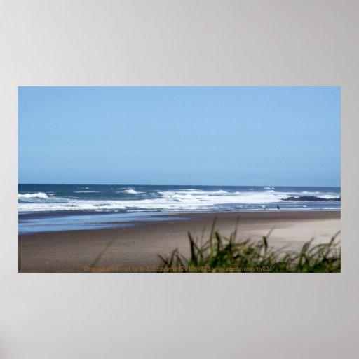 Blue Sky and Beach Print