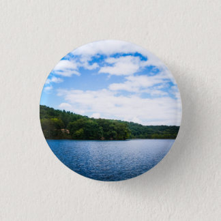 Blue Sky and Calm Waters in Spring Button
